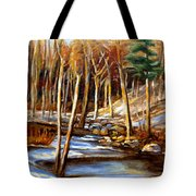 Winding Stream Tote Bag