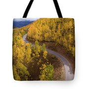 Winding Through Fall Tote Bag by Wesley Aston