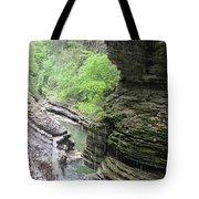 Water Falling Throughout The Gorge Tote Bag