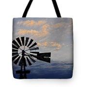 Windmill And Cloud Bank At Sunset Tote Bag