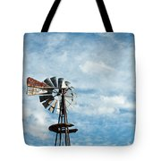 Windmill And Clouds Tote Bag