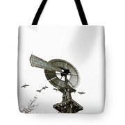 Windmill And Geese Tote Bag