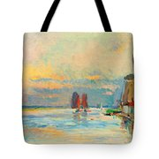 Windmill At A Channel In Rotterdam Tote Bag
