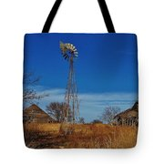 Windmill At An Old Farm In Kansas Tote Bag