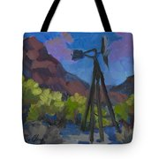 Windmill At Keys Ranch Joshua Tree Tote Bag