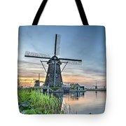 Windmill At Kinderdijk Tote Bag