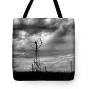 Windmill Foreground A Dramatic Sky Baw Tote Bag