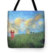 Windmill Girl Tote Bag
