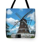 Windmill In Fleninge,sweden Tote Bag