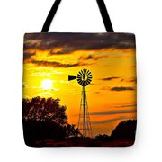 Windmill In Texas Sunset Tote Bag