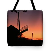 Windmill In The Afterglow. Tote Bag