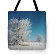 Windmill In The Frost Tote Bag