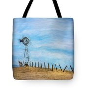 Windmill On The Hill Tote Bag