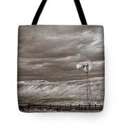 Windmill Sepia Tote Bag