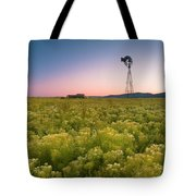 Windmill Sunset Tote Bag