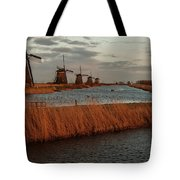 Windmills In The Evening Sun Tote Bag