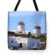 Windmills Mykonos Tote Bag