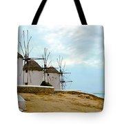 Windmills Of Mykonos I Tote Bag