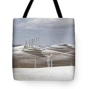 Windmils In Snow Tote Bag