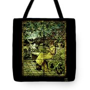 Window - Lady In Garden Tote Bag