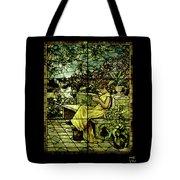 Window - Lady In Garden Tote Bag