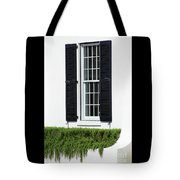 Window And Black Shutters Tote Bag