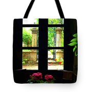 Window And Roses Tote Bag