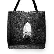 Window At Fuerty Church Roscommon Ireland Tote Bag by Teresa Mucha