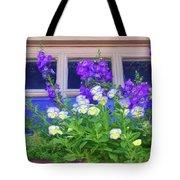 Window Box With Pansies Tote Bag