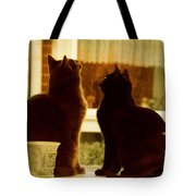 Window Cats Tote Bag