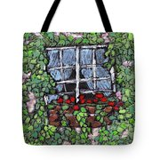 Window Flower Box Tote Bag