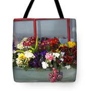Window Flowers Tote Bag
