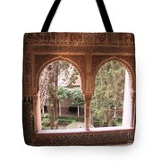 Window In La Alhambra Tote Bag
