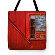 Window In Red Tote Bag
