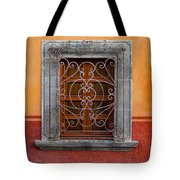 Window On Orange Wall San Miguel De Allende Tote Bag