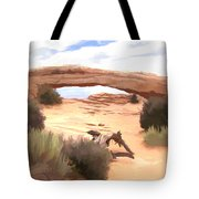 Window On The Valley Tote Bag