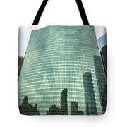 Window Reflections In The Windy City Tote Bag