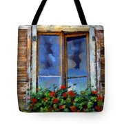 Window Shutters And Flowers IIi Tote Bag