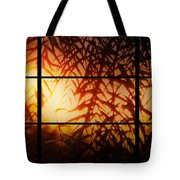 Window Sunset Tote Bag