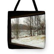 Window To Winter Tote Bag