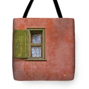 Window With A Lace Curtain Tote Bag