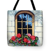 Window With Flower Box Tote Bag