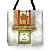 Window With Flower Pot Tote Bag