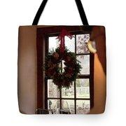 Window Wreath Tote Bag