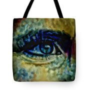 Windows Into The Soul Eye Painting Closeup All Seeing Eye In Blue Pink Red Magenta Yellow Eye Of Go Tote Bag