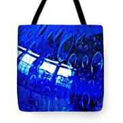 Windows Reflected On A Blue Bowl 3 Tote Bag