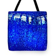Windows Reflected On A Blue Bowl Tote Bag