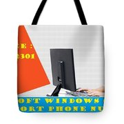 Windows Support To Remove System Error Codes Tote Bag