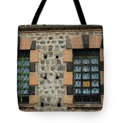 Windows With Steel Grates Tote Bag