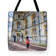Windsor Castle And Coldstream Guard Tote Bag